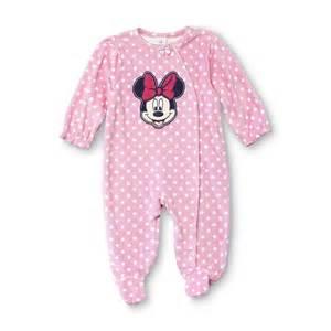 disney baby minnie mouse newborn s fleece sleeper