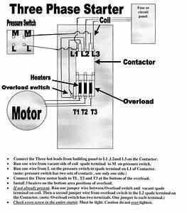 1 Phase Motor Starter Wiring Diagram