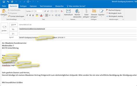 kuendigung beim maxdome  email  codedocude sonstiges