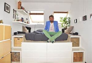 Podest Selber Bauen Bett : die besten 25 podestbett mit lattenrost ideen auf pinterest podest bett ohne lattenrost ~ Markanthonyermac.com Haus und Dekorationen