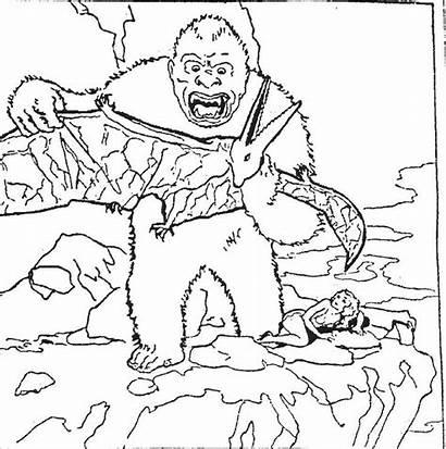 Kong King Colorear Dibujos Coloring Apes Kolorowanki