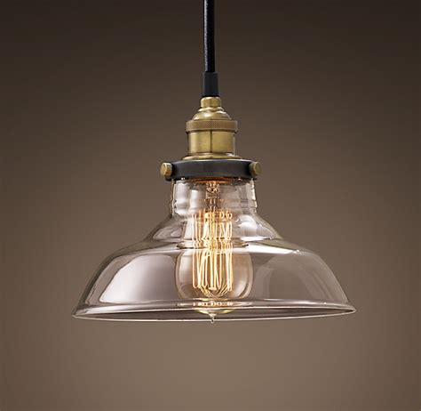 factory filament clear glass barn pendant
