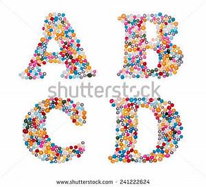 letter d script stock photos images pictures With letter sprinkles