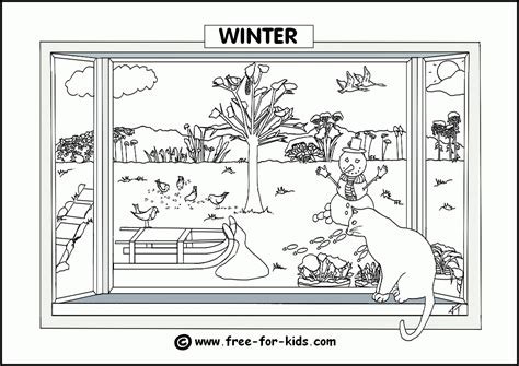 HD wallpapers coloring pages of winter activities