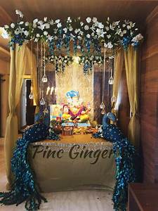 Peacock Theme Ganpati Decoration contact +919967144050 #