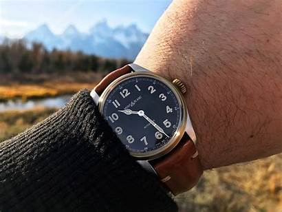 Montblanc 1858 Automatic Dial Bronze Champagne Hands