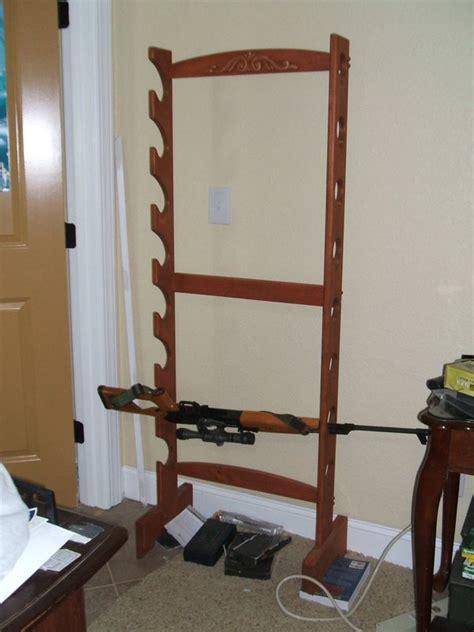 standing gun rack plans ideas woodworking gun rack plans free standing