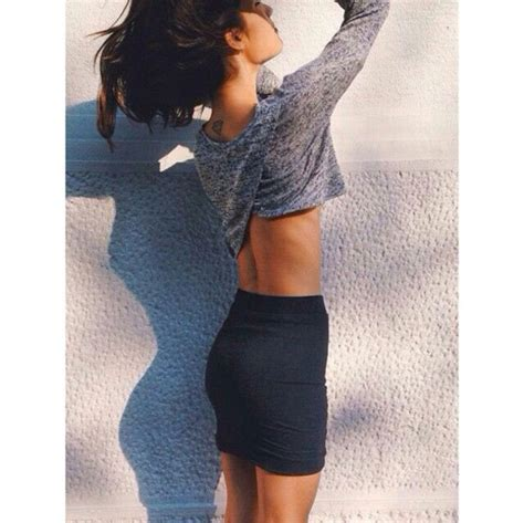 Top cropped sweater mini skirt skinny body goals booty butt perf tumblr outfit tumblr ...
