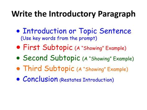 the introduction paragraph ppt ppt essay writing powerpoint presentation id 556739