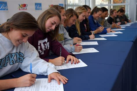 national letter of intent signing day national signing day baltimore area athletes ink their