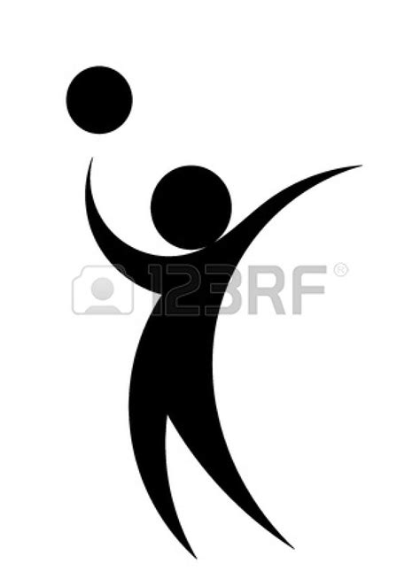 Setter Volleyball Player Clipart