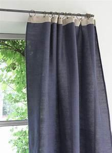 Rideau Toile De Jute : jute rideau en toile bleu nuit ~ Farleysfitness.com Idées de Décoration