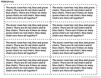 multi step word problems  grade  beth kelly tpt