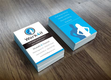 Create your own personal trainer business cards. Logo & business card design for Personal trainer/business ...