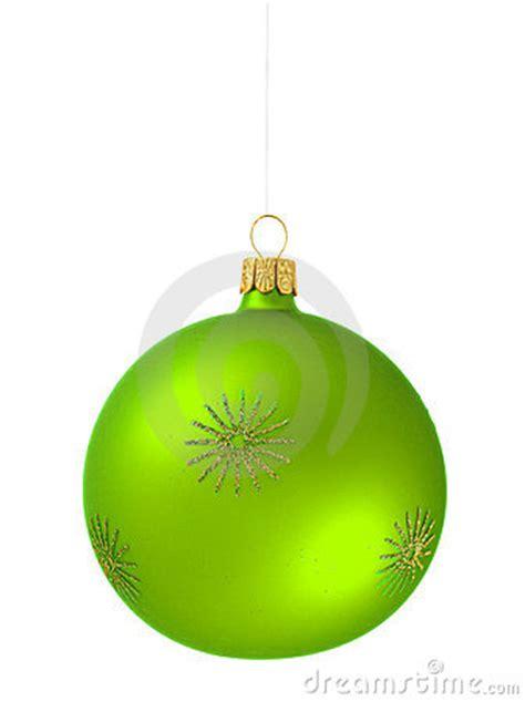 christmas tree ball green royalty  stock images