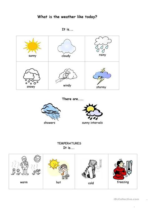 what s the weather like today worksheet free esl printable worksheets made by teachers