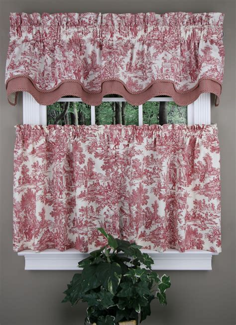 Blue Country Kitchen Curtains by Park Bradford Valance And Tier Pair Blue Toile