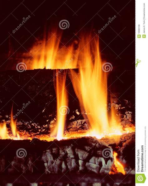 Burning Logs In Fireplace Royalty Free Stock Image Image