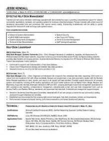 resume for it support cover letter it help desk resume sles free it