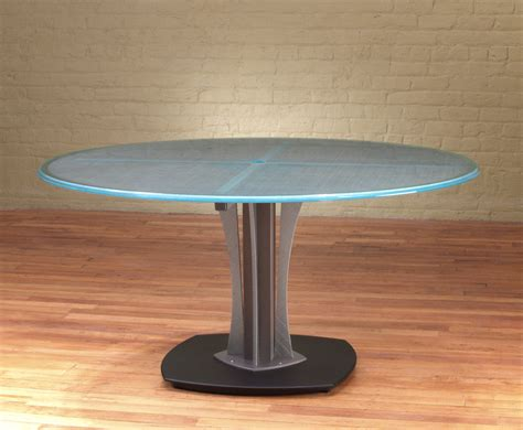 round glass table l kimball round conference table module 52 office