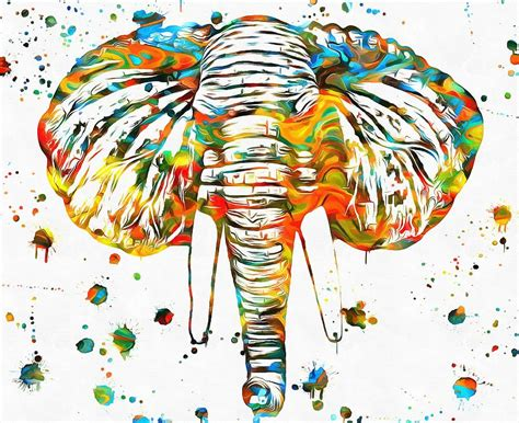 Elephant Head Paint Splatter Painting By Dan Sproul Unity Art Drawings Arts & Learning Research Journal Anime Wallpaper 4k Crafts Borders Nouveau Wood In Hyderabad Fine Websites Templates Tastic Magic Beads
