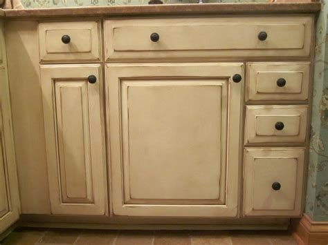 how to antique cabinets tiny distressed white kitchen cabinets with round black