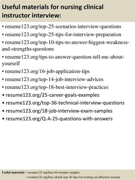 top 8 nursing clinical instructor resume sles
