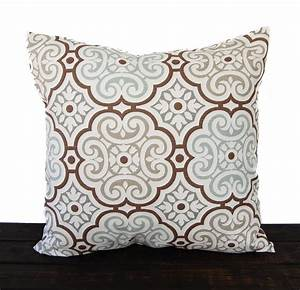 brown and gray throw pillows With brown and grey accent pillows