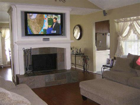 Anyone Have A Tv Mounted Over A Fireplace??  Gymbofriends. Celadon Green. Cherry Cabinet. Gold Sofa. Makeup Vanity. Alu Mont. How To Display The American Flag On A House. Cute Living Room Ideas. Black Nightstands