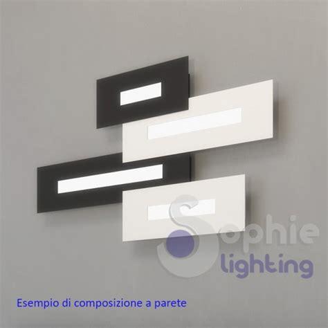 Applique Moderna by Applique Nera Moderna Parete Design Led 10w Luce Naturale