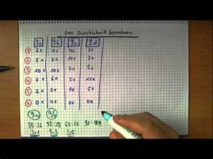 Abidurchschnitt Berechnen : den durchschnitt berechnen youtube ~ Themetempest.com Abrechnung