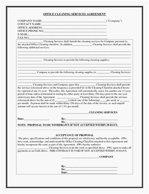 project management contract template  facilities