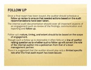Internal audit report writing for Audit follow up template