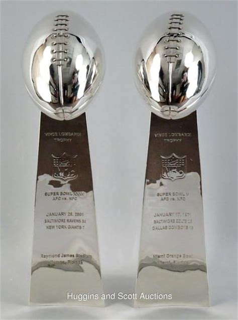 lombardi trophy silver plated replicas  super bowl