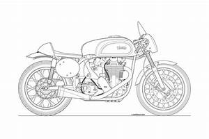line drawing motorcycles pinterest cafe racers With motorcycle engine