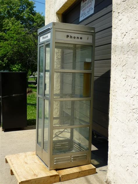metal phone booth obnoxious antiques