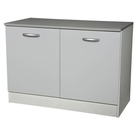 porte meuble cuisine leroy merlin meuble de cuisine bas 2 portes gris aluminium h86x l120x
