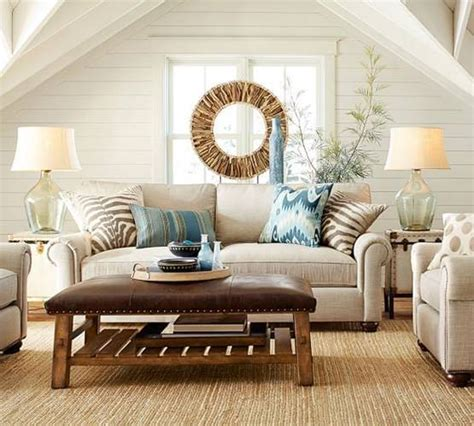 pottery barn inspired living room     shortcuts