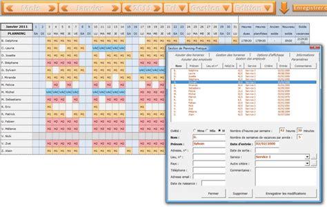 modèle fiche horaire salarié aide modele cedule de travail