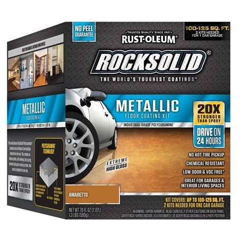 Rust Oleum RockSolid 70 oz. Amaretto Metallic Garage Floor