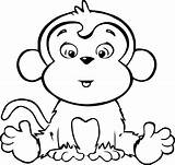 Coloring Monkeys Hard Activity sketch template