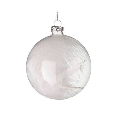 white feather christmas baubles images