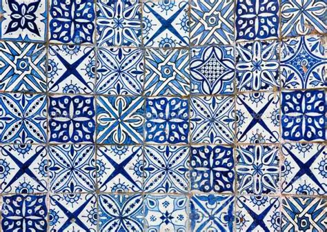 chambre mur bleu carrelage marocain un en forme de carreaux