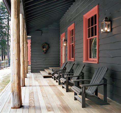 a twist the adirondack color scheme pennoyer s adirondack house orange house