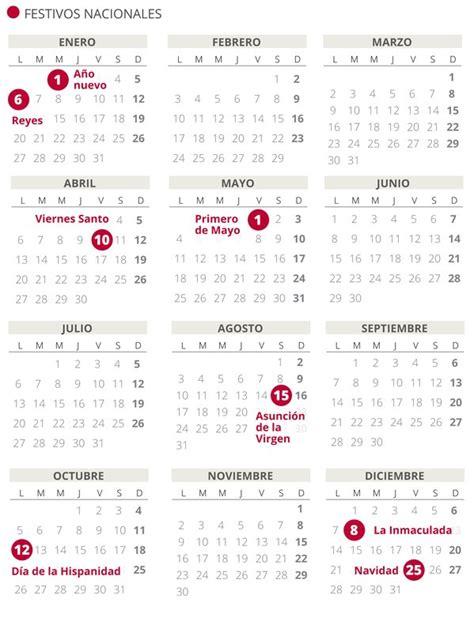 calendario laboral consulta puentes festivos por