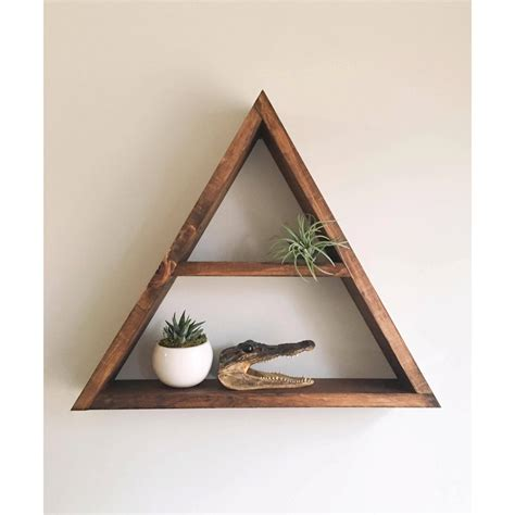 triangle wall shelf triangle shelf shelf shadow box wood by araehandcrafts