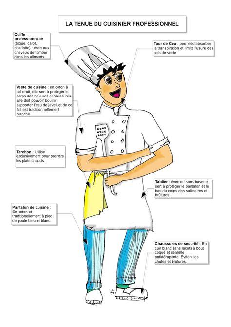 tenu cuisine autour de la gastronomie la tenue du cuisinier fiche du