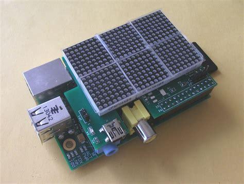 Rs-pi I2c 24 X16 Led Matrix Board For Raspberry Pi