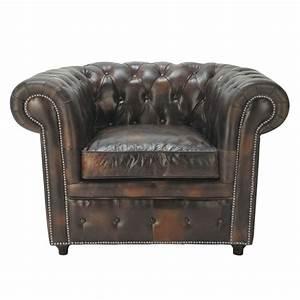 Maison Du Monde Chesterfield : fauteuil capitonn chesterfield en cuir moka vintage ~ Teatrodelosmanantiales.com Idées de Décoration
