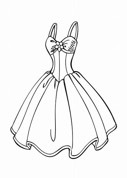Dresses Prom Drawing Coloring Pages Getdrawings